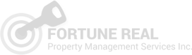 Gray logo for Fortune Real Property Management Services